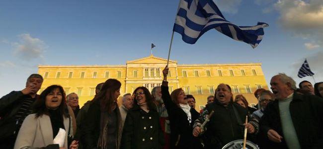 Yunanistanda iktidar karşıtı gösteri