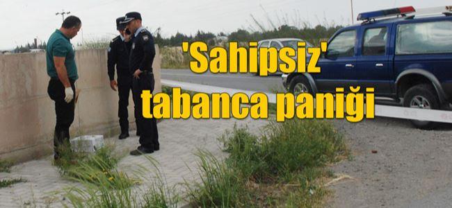 Yol kenarındaki tabanca polisi alarma geçirdi