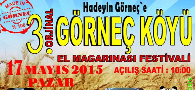 """3. El Magarınası Festivali"" 17 Mayıs'ta"