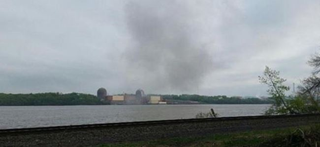 Nükleer santralin trafosu patladı