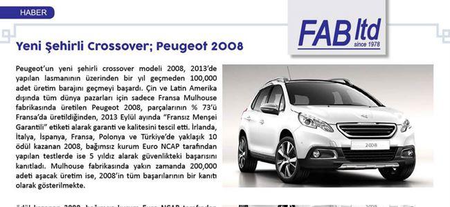 Yeni şehirli crossover; Peugeot 2008
