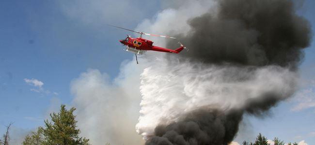 Yangın helikopteri için çalışmalar tamamlandı