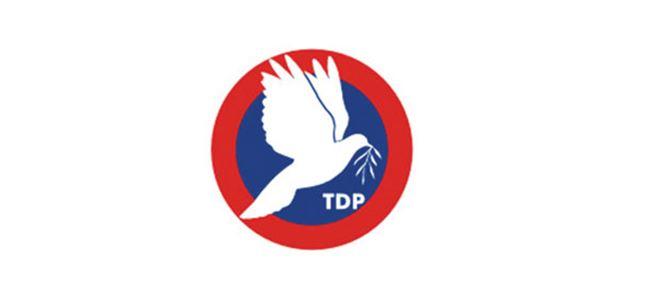 TDPnin  Tüzük Kurultayı 28 Haziranda