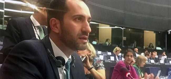 Candan, Avrupa Parlamentosu'nda konuştu