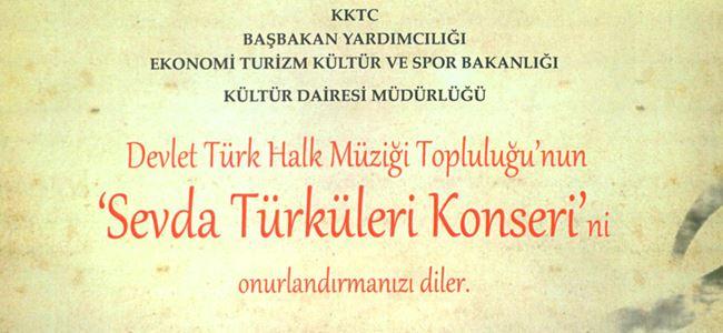 """""""Sevda Türküleri"""" yarın akşam AKM'de"""