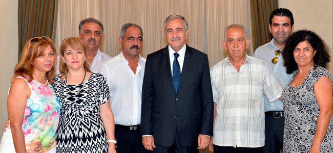 Akıncı, Maronit toplumundan bir heyeti kabul etti