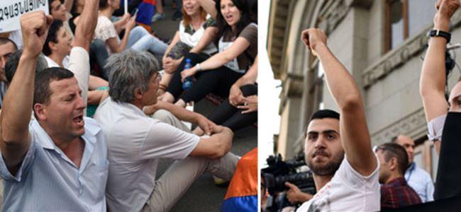 Ermenistanda elektrik zammı protesto edildi