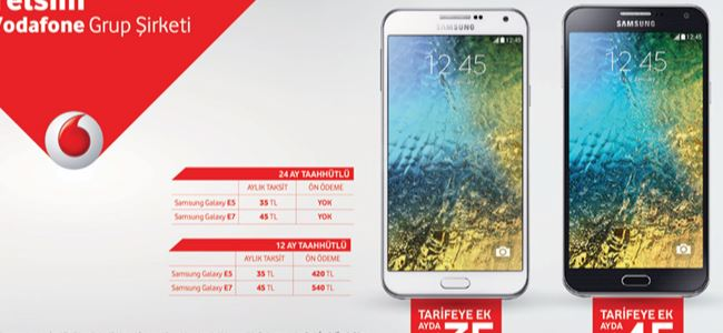 Samsung Galaxy E Serisi Telsim'de