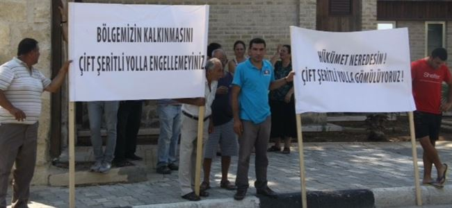 Boğaz ve Boğaztepeli vatandaşlar eylem yaptı