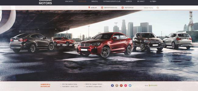 Çangar Motors web sitesi yayında