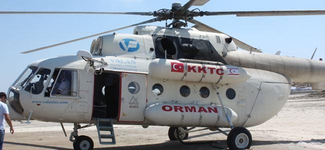 Yangın helikopteri göreve başladı