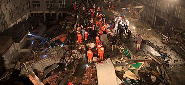 Çinde ayakkabı fabrikası çöktü… 11 kişi öldü…
