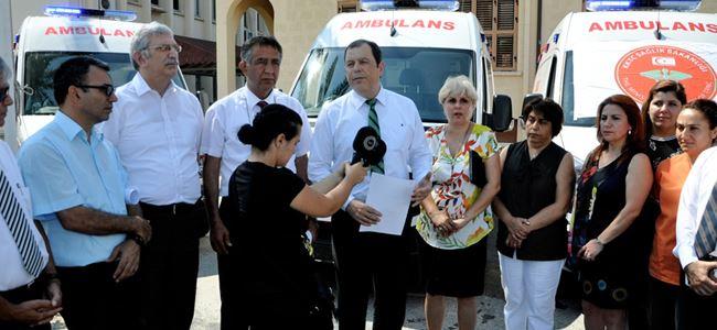 112 Acil Servis ağına beş ambulans daha katıldı