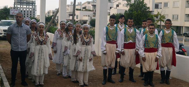 Girne Belediyesi Halk Dansları ekibi Makedonya'ya gitti
