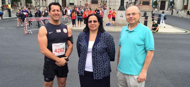 Baysan, Londra Maratonu'nda koştu