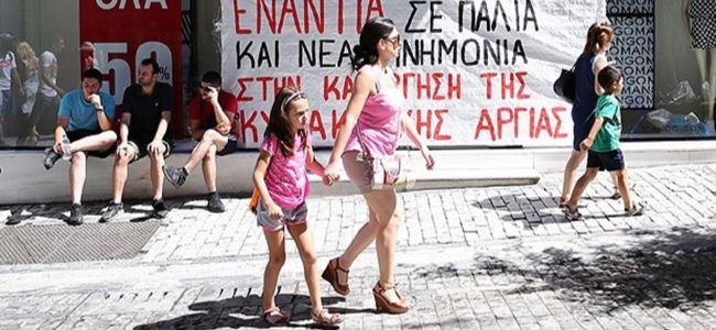 Yunanistanda Pazar protestosu