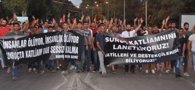 Suruç katliamı Lefkoşada protesto edildi
