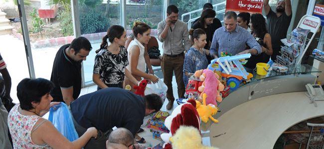 United Medya'dan Kobane'deki çocuklara oyuncak