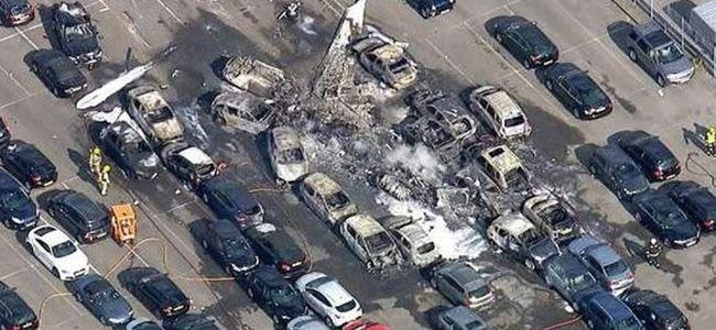 İngilterede otomobil pazarına uçak düştü