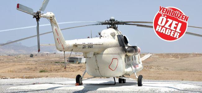 Yangın helikopteri Lefkoşa Sanayide