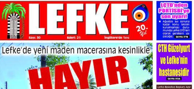 Lefke Gazetesi'nin  30. sayısı yayınlandı