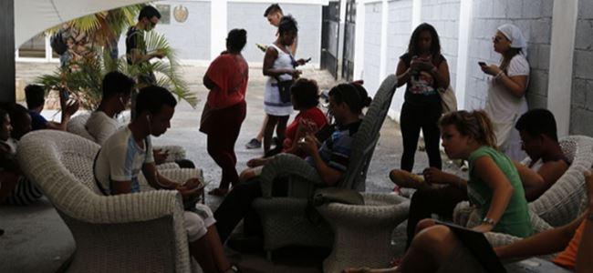 Kübada kablosuz internet heyecanı