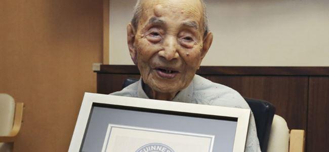 Dünyanın en yaşlı erkeği Japonyadan