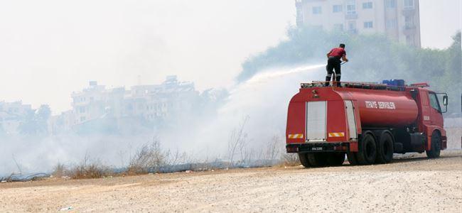 Mağusa'da ot yangını