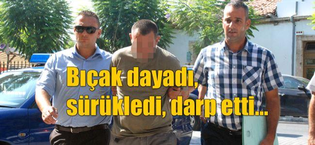 Girne'de maskeli-bıçaklı soygun girişimi