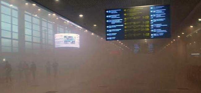 Havaalanı yangınında binlerce kişi tahliye edildi