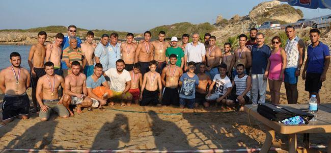 Plajın şampiyonları belirlendi