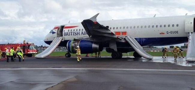 Uçağın motoru alev aldı: 14 yaralı