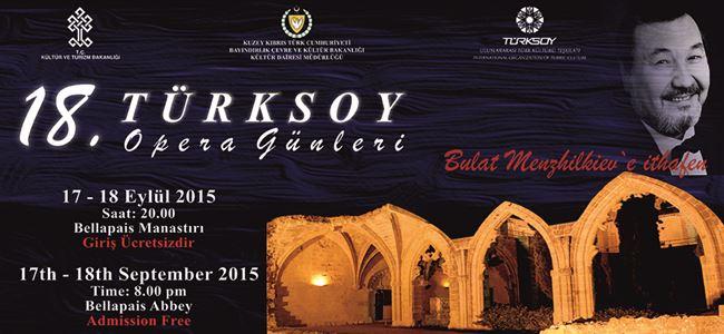 18. Türksoy Opera Günleri, 15 – 24 Eylül'de…