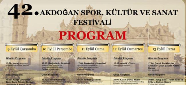 42. Akdoğan Festivali başlıyor