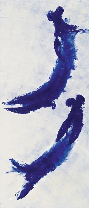 Siyah-beyaz bir mavi…