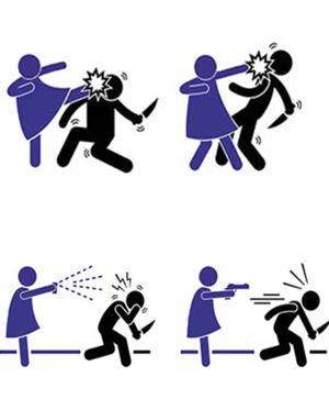 Kadına şiddete şiddetle hayır!