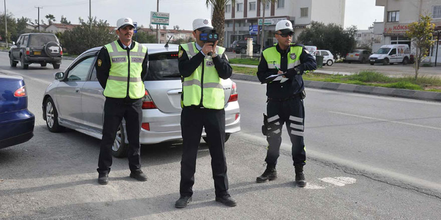 Girne'de Asayiş ve trafik operasyonu