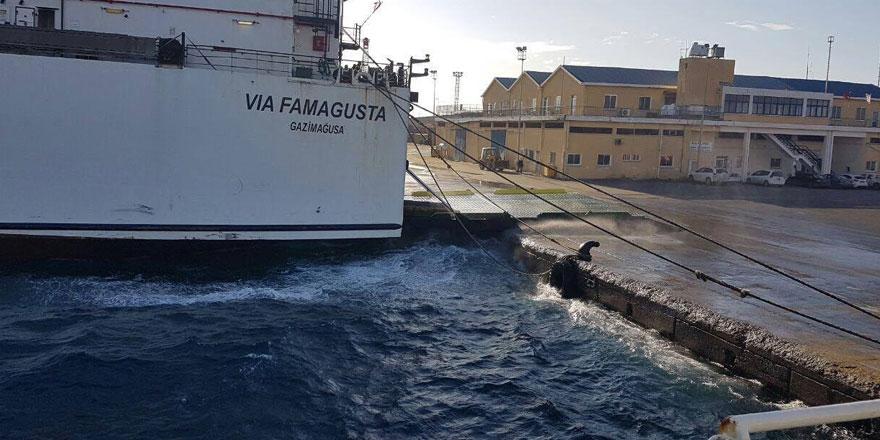 Mağusa ve Girne limanlarının faaliyetleri durdu