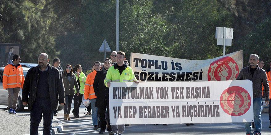 Gönyeli Belediyesi emekçileri DEV-İŞ dedi!