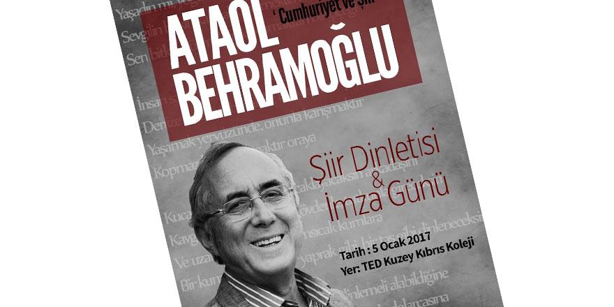 Ataol Behramoğlu TED Kuzey Kıbrıs Koleji'nde