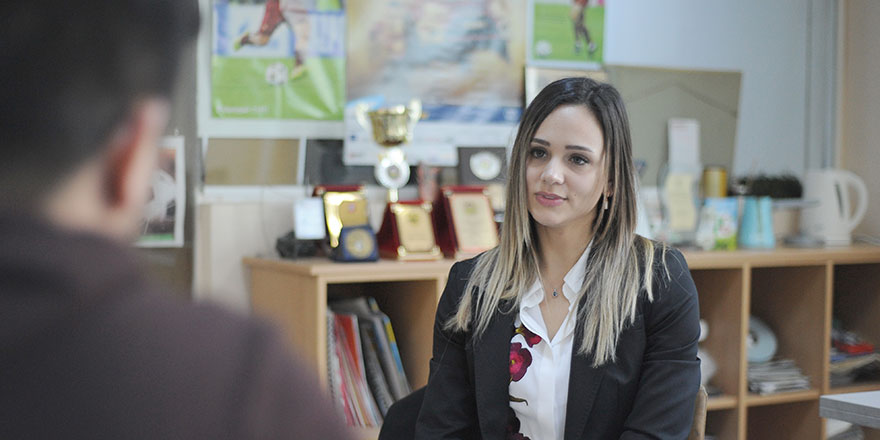 """Simay Kanan; """"Futbolda kadın olmak zor değil"""""""