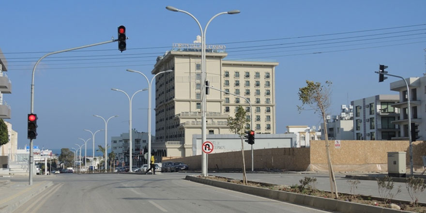 Girne'de trafikte sensör uygulaması