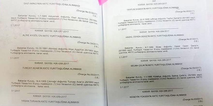İKİ BAKANLAR KURULU TOPLANTISI, 16 YURTTAŞ DAHA!..