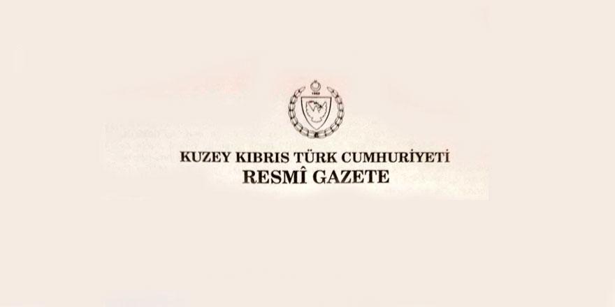 Resmi Gazete'den haberler..