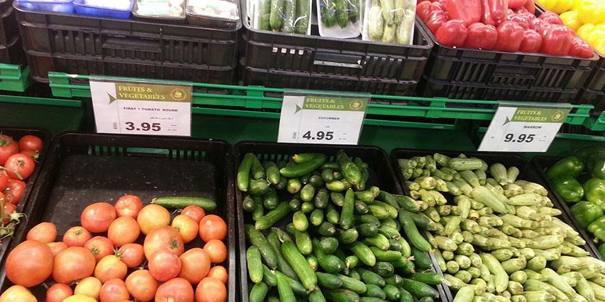 Sebze-meyvede  Güney çok pahalı
