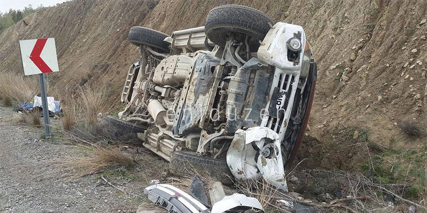 Taşkent – Haspolat arasında korkutan kaza!