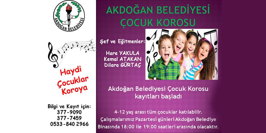Akdoğan Belediyesi Çocuk Korusu kayıtları başladı