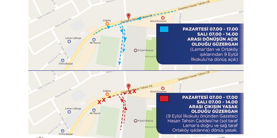 Lefkoşa'da yeni trafik düzenlemesi