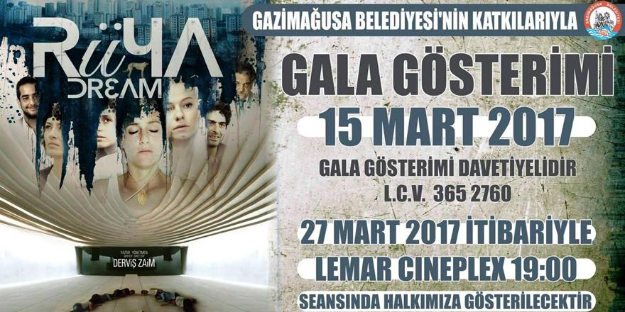 Derviş Zaim'in Rüya filminin Mağusa galası yapılıyor