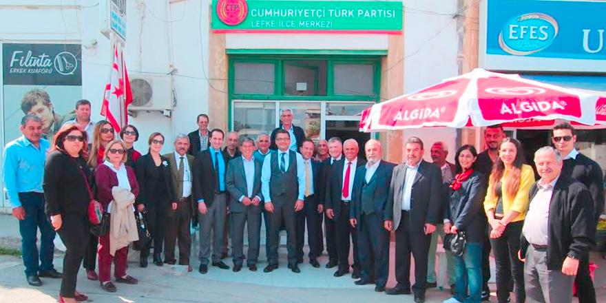 CTP'nin Lefke ilçe binası açıldı